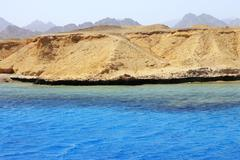 Red sea seashore on Ras Mohamed territory Stock Photos