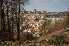 View of Fribourg, Switzerland Stock Photos