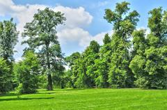 France, the Marie Antoinette estate in the parc of Versailles Pa - stock photo