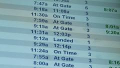 Airport Flights Travel Time Schedule Display Board Stock Footage