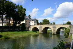 France, the picturesque city of L Isle Adam Stock Photos