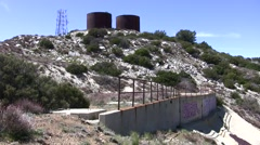 Magic Mountain apollo lunar lander test stand site remains Stock Footage