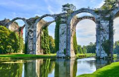 France, the picturesque aqueduct of Maintenon - stock photo