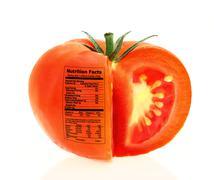 Tomato nutrition facts Stock Illustration