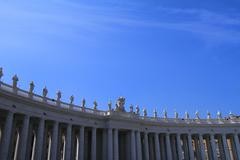 Details of St. Peter's cathedral in Vatican city - stock photo