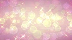 bright circle bokeh and stars festive loopable background - stock footage