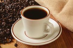 Fresh brewed coffee Stock Photos