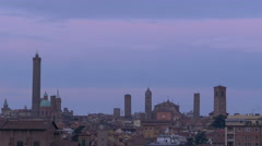 Bologna skyline with tower and monument Italy Emilia-Romagna Region Stock Footage