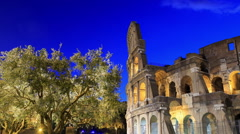 Ruined Coliseum. Camera movement, Time Lapse Stock Footage