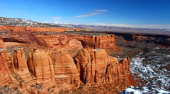 Artists Point Colorado National Monument Stock Footage