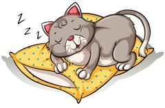 Cat taking a nap Stock Illustration
