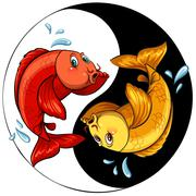 Stock Illustration of Template of two fishes
