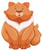 Stock Illustration of Fat cat