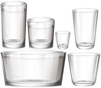 Set of glasses Stock Illustration