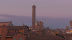 4K FHD Bologna skyline with tower and monument Italy Emilia-Romagna Region Stock Footage