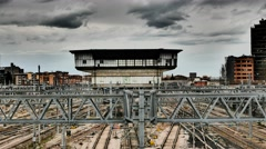 4K FHD Bologna Train Station railway Italy Emilia-Romagna Region Stock Footage