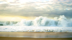 Ocean waves crashing on the shore Stock Footage