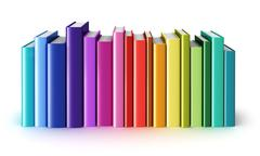 Color hardcover books - stock illustration