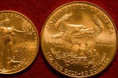 Gold Bullion Coins - stock photo