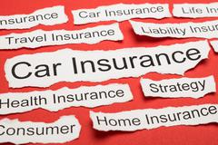Car Insurance Text On Piece Of Paper Salient Among Other Related Keywords - stock photo
