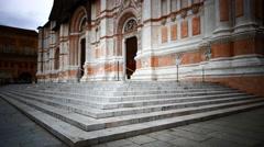 4K FHD Bologna Piazza Maggiore II Duomo Basilica di San Petronio cathedral Stock Footage