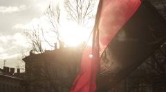 Ukrainian flag Stock Footage