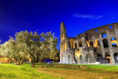 Colosseum, Rome, Italy. Camera movement, TimeLapse. 4K+ Stock Footage