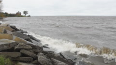 Breaking Waves on Lake 2 Stock Footage