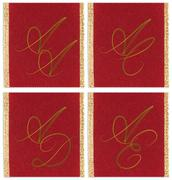 Stock Illustration of Collection of textile monograms design on a ribbon. AA, AC, AD, AE