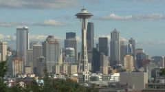 Panoramic view of downtown Seattle, Washington Stock Footage