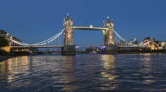 Time lapse of Tower Bridge lift in London Stock Footage
