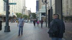 Walking on 5th Avenue, Seattle Stock Footage