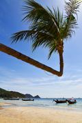 sun ligt asia  the  kho tao bay isle white - stock photo