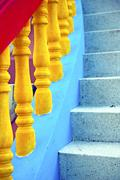 bangkok in thailand incision of stairs - stock photo