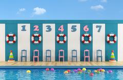 Children's pool Stock Illustration