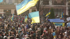 Euromaidan revolution Stock Footage