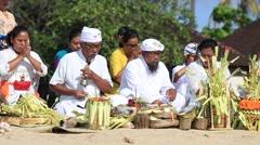 Video 1920x1080  People to worship on the beach. Island Bali, Indonesia Stock Footage
