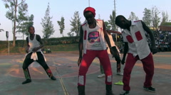 Dance competition in rural areas of kigali Stock Footage