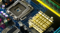 Close up rotation of computer laptop hardware and components, 4K Stock Footage