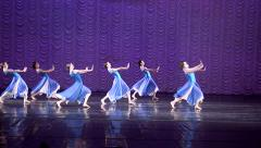 Performance of the dancers Ballerina and ballet. Stock Footage