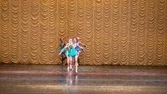 Young Gymnasts,  girl gymnasts. Stock Footage