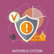 Stock Illustration of Antivirus system