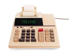 Old calculator - college - stock photo