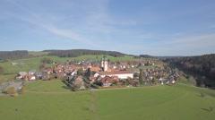 Black Forest Monastery St. Märgen (Maergen) Stock Footage
