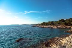 Adriatic Sea coastline in Croatia - stock photo