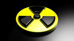Nuclear warning sign background - stock illustration