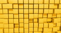 Yellow Cubes motion background, seamless looping Footage