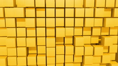 Yellow Cubes motion background, seamless looping Stock Footage