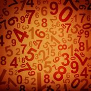 Numbers on fabric texture background - stock illustration