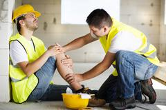 Construction accident - stock photo